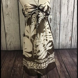 Dresses & Skirts - Milly mocha palm leaf dress size 4